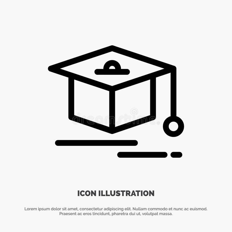 Nakrętka, edukacja, skalowanie linii ikony wektor royalty ilustracja
