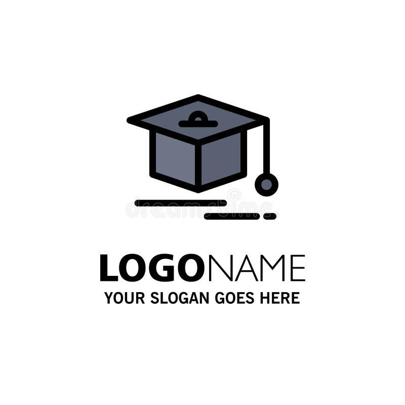 Nakrętka, edukacja, skalowanie logo Biznesowy szablon p?aski kolor royalty ilustracja