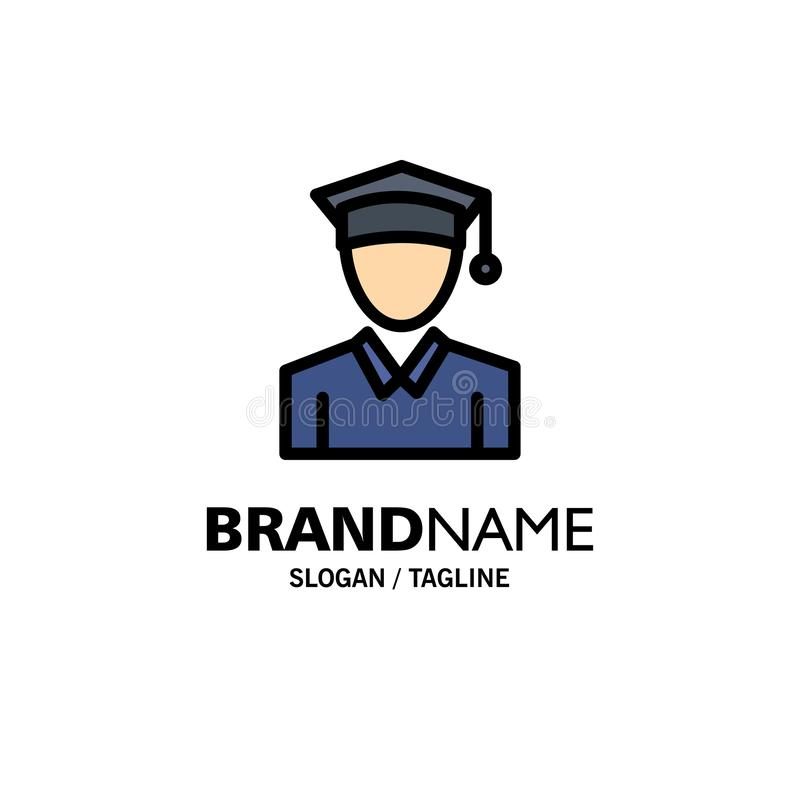 Nakrętka, edukacja, skalowanie logo Biznesowy szablon p?aski kolor ilustracji