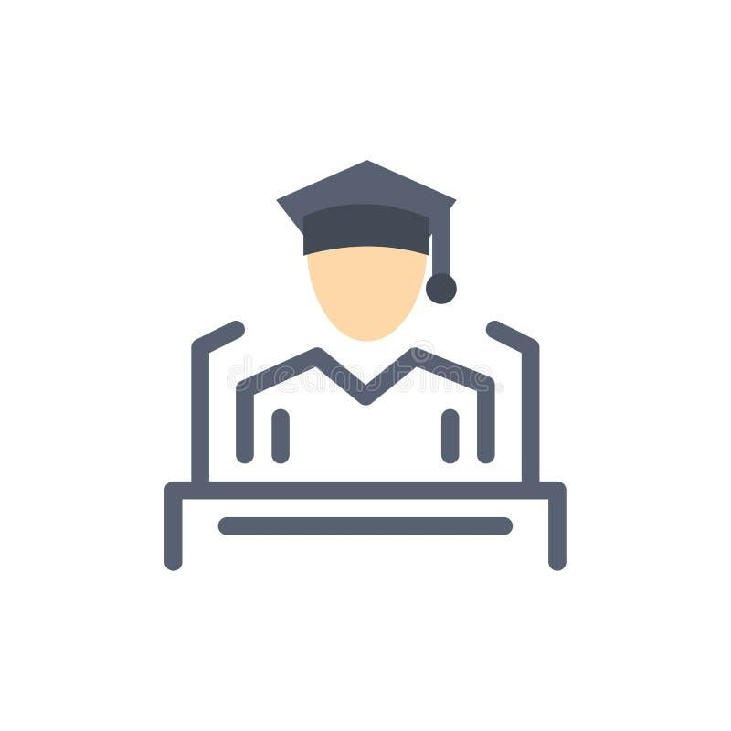 Nakrętka, edukacja, skalowanie, mowa koloru Płaska ikona Wektorowy ikona sztandaru szablon ilustracja wektor