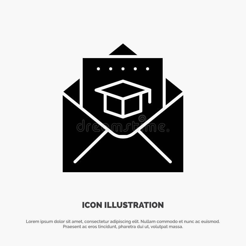 Nakrętka, edukacja, skalowanie, poczta glifu ikony stały wektor ilustracja wektor