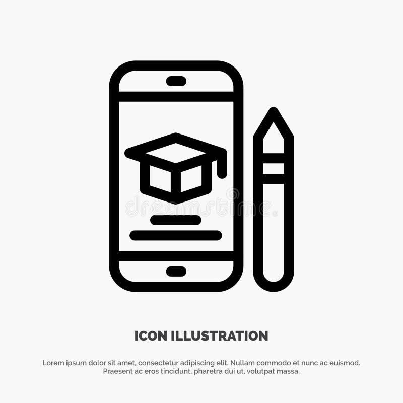 Nakrętka, edukacja, skalowanie, wisząca ozdoba, ołówek ikony Kreskowy wektor royalty ilustracja