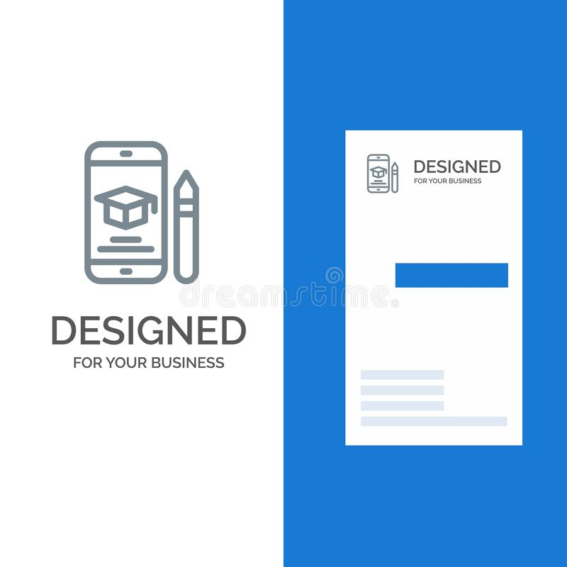 Nakrętka, edukacja, skalowanie, wisząca ozdoba, ołówka logo Popielaty projekt i wizytówka szablon, ilustracja wektor