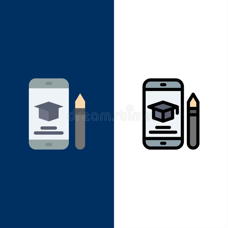 Nakrętka, edukacja, skalowanie, wisząca ozdoba, Ołówkowe ikony Mieszkanie i linia Wypełniający ikony Ustalony Wektorowy Błękitny  ilustracja wektor