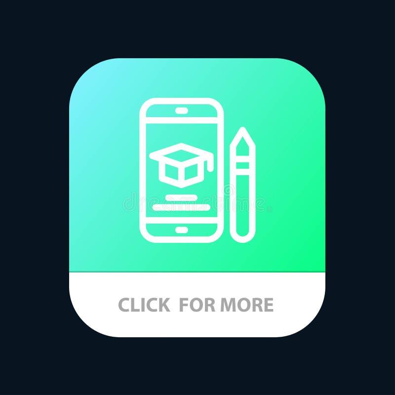 Nakrętka, edukacja, skalowanie, wisząca ozdoba, Ołówkowy Mobilny App guzik Android i IOS linii wersja royalty ilustracja