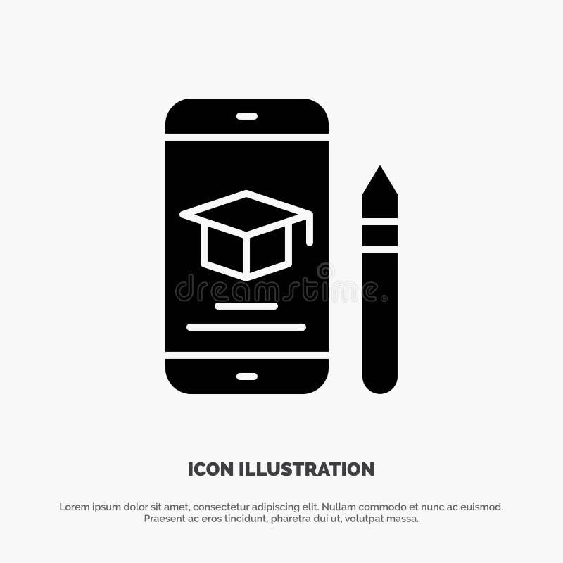 Nakrętka, edukacja, skalowanie, wisząca ozdoba, Ołówkowy stały glif ikony wektor ilustracja wektor