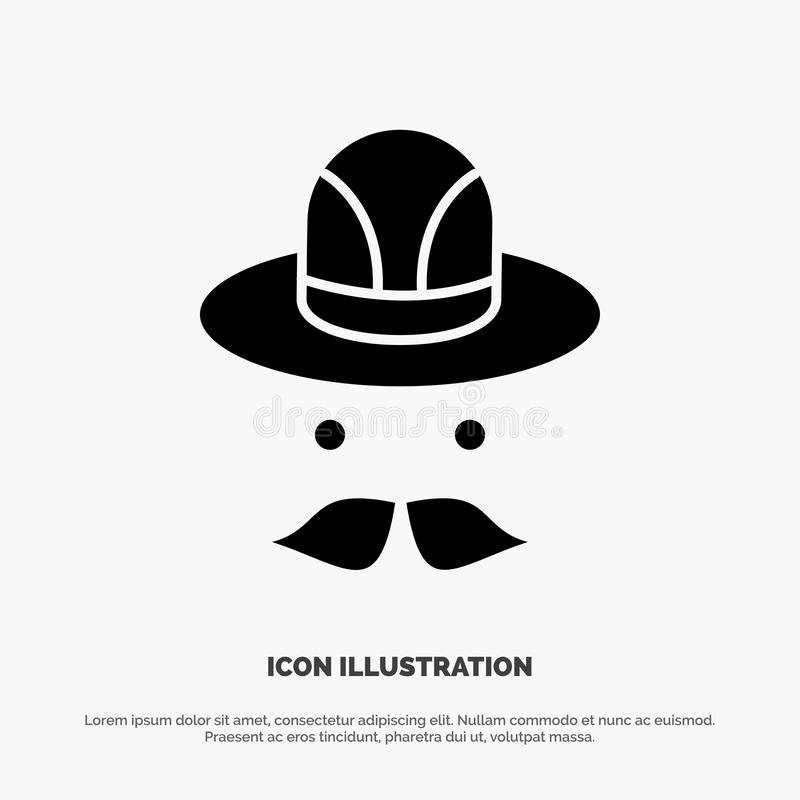 Nakrętka, kapelusz, Kanada glifu ikony stały wektor royalty ilustracja