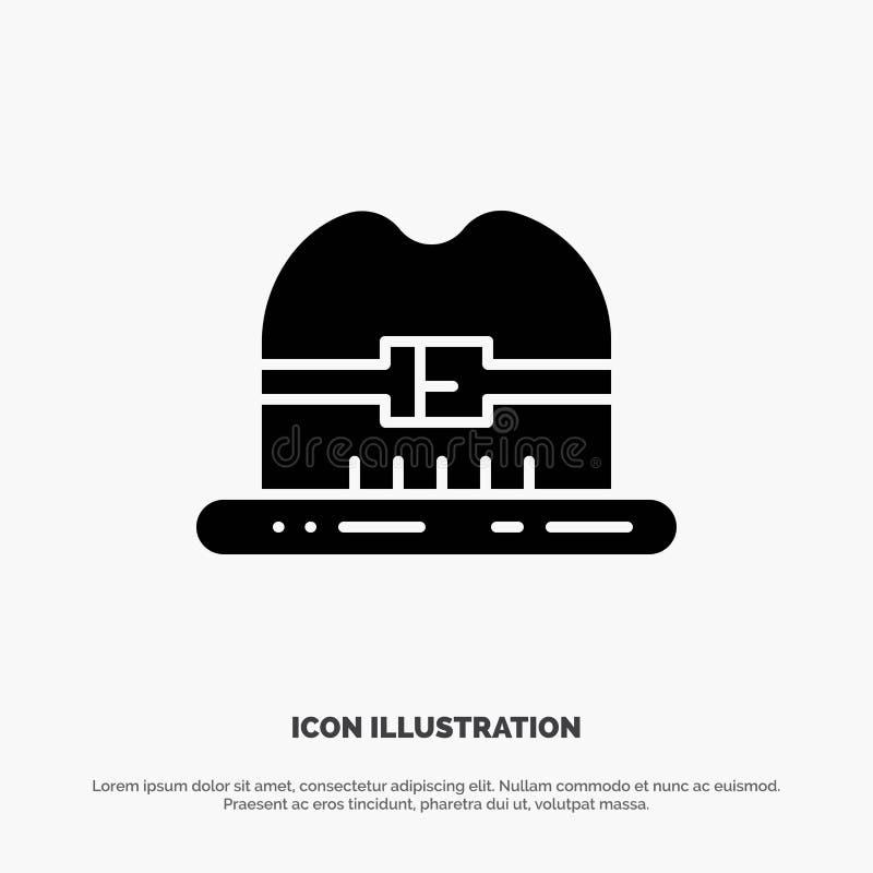 Nakrętka, kapelusz, Kanada glifu ikony stały wektor ilustracji