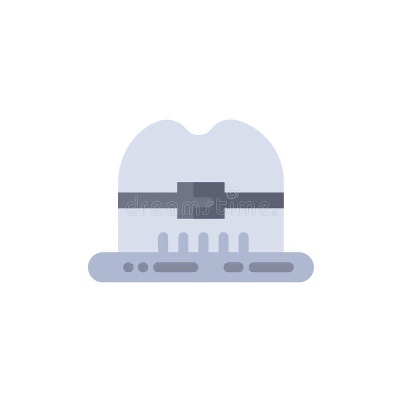 Nakrętka, kapelusz, Kanada koloru Płaska ikona Wektorowy ikona sztandaru szablon ilustracji