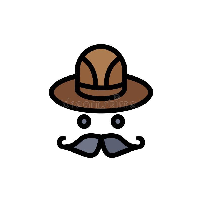 Nakrętka, kapelusz, Kanada koloru Płaska ikona Wektorowy ikona sztandaru szablon royalty ilustracja