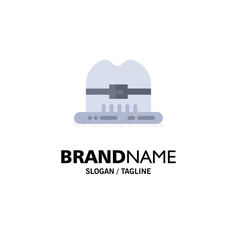 Nakrętka, kapelusz, Kanada logo Biznesowy szablon p?aski kolor ilustracji