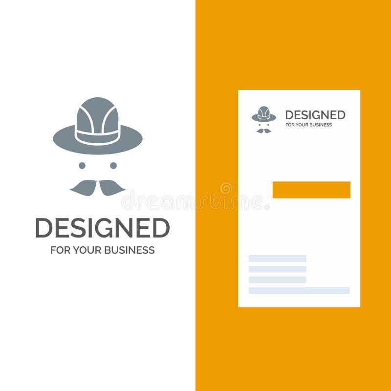 Nakrętka, kapelusz Kanada logo Popielaty projekt i wizytówka szablon, royalty ilustracja