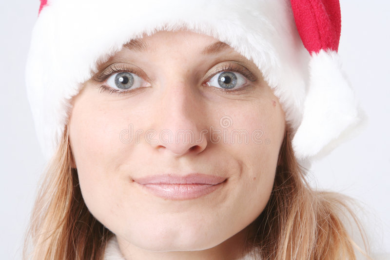 nakrętki dziewczyna nowy s uśmiecha się rok zdjęcia stock