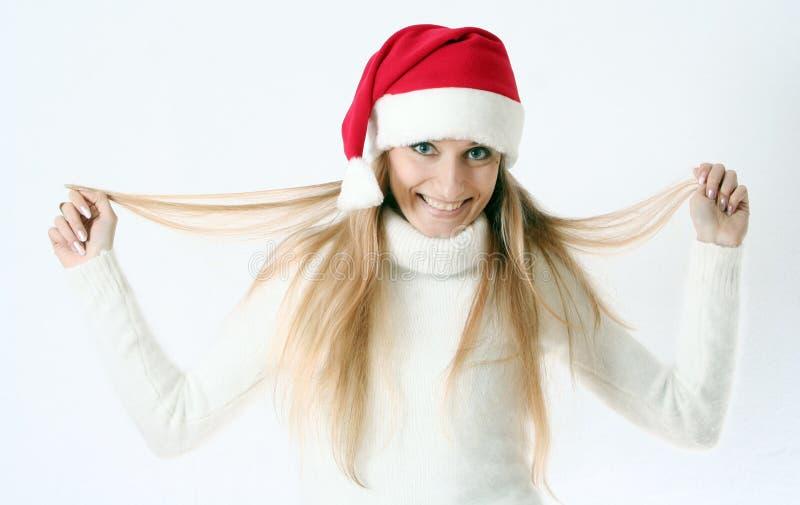 nakrętki dziewczyna nowy s uśmiecha się rok obraz royalty free