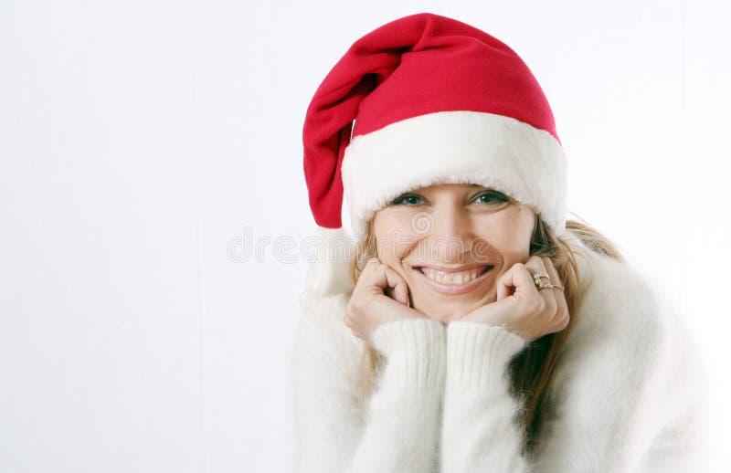 nakrętki dziewczyna nowy s uśmiecha się rok zdjęcie stock