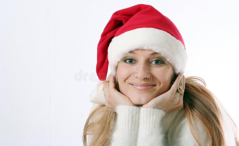 nakrętki dziewczyna nowy s uśmiecha się rok zdjęcie royalty free