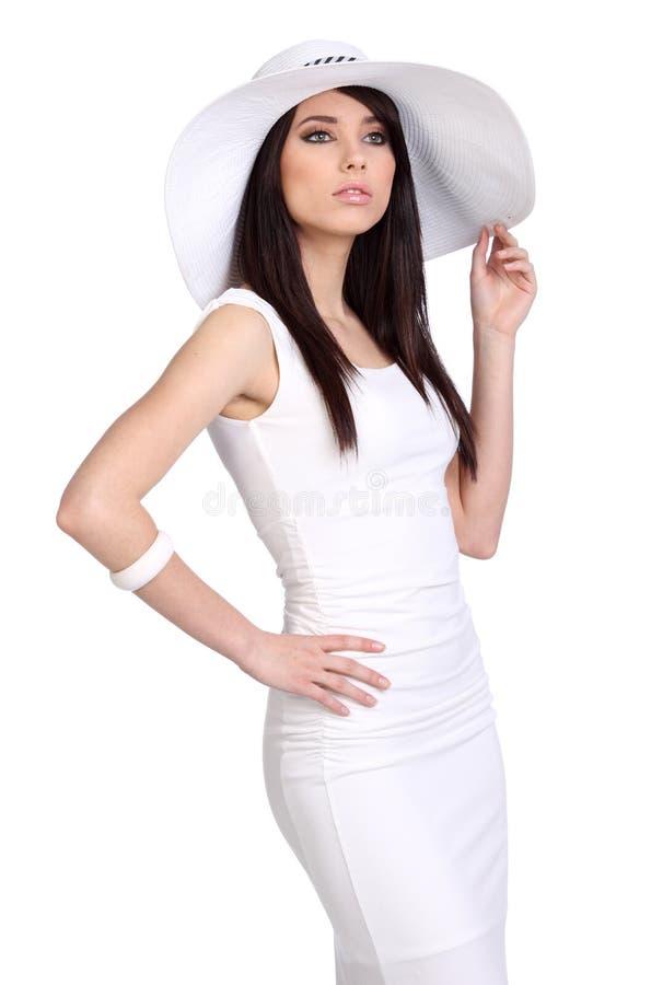nakrętki dziewczyny lato biel zdjęcie royalty free