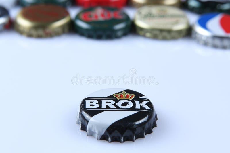 Nakrętki piwo i napój fotografia stock