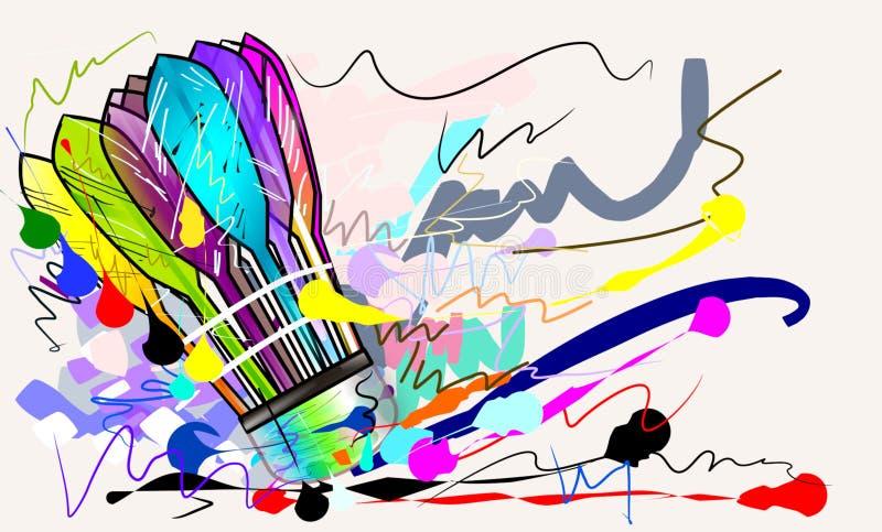 Nakreślenia badminton piłka ilustracja wektor
