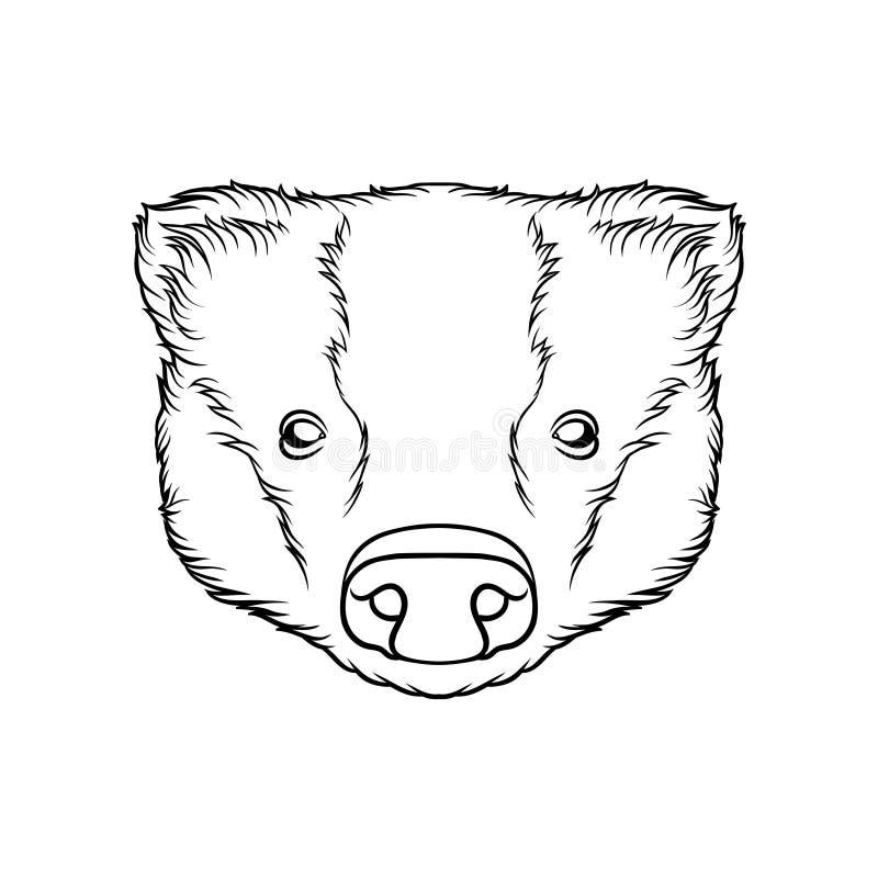 Nakreślenie świnie przewodzi, portret zwierzęta gospodarskie czarny i biały ręka rysująca wektorowa ilustracja ilustracji