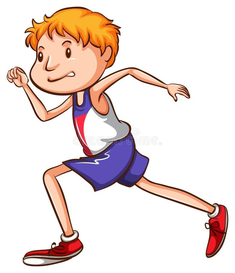 Nakreślenie biegacz royalty ilustracja