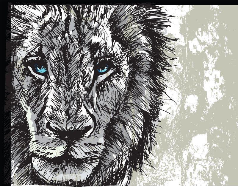 Duży męski Afrykański lew royalty ilustracja