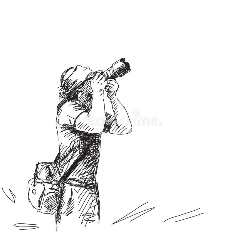 Nakreślenie fotograf royalty ilustracja