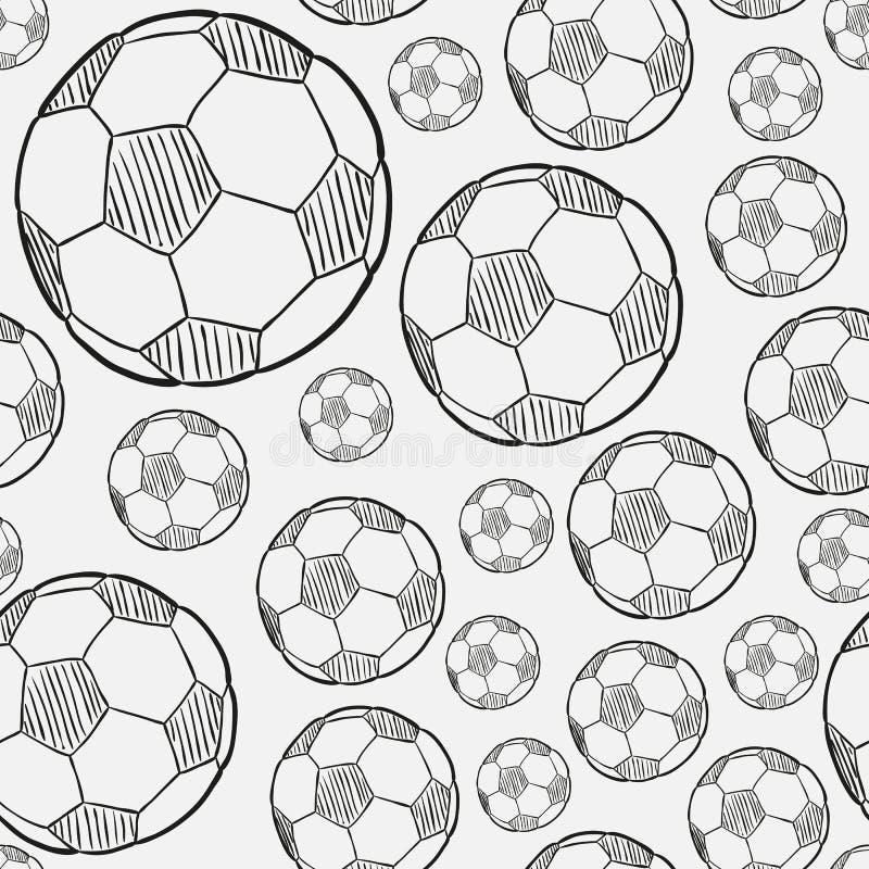 Nakreślenie futbolowa piłka royalty ilustracja