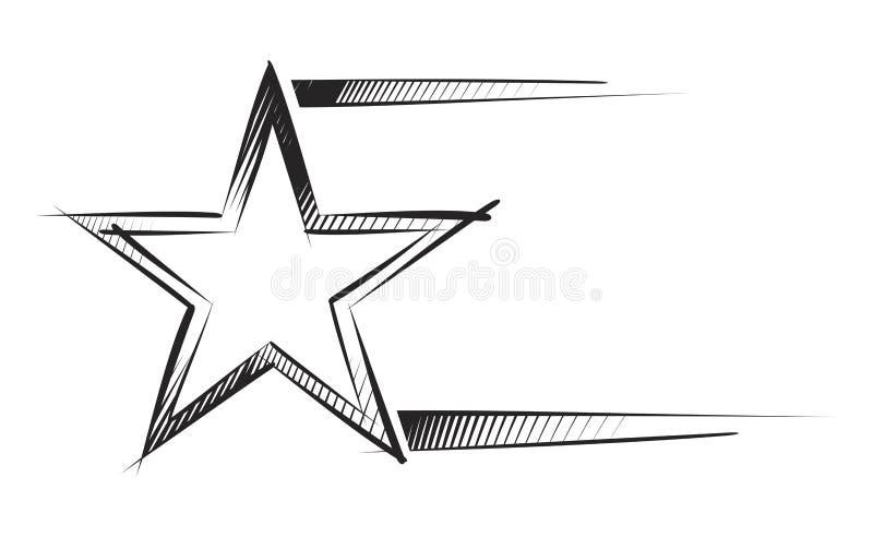 nakreślenie gwiazda ilustracja wektor