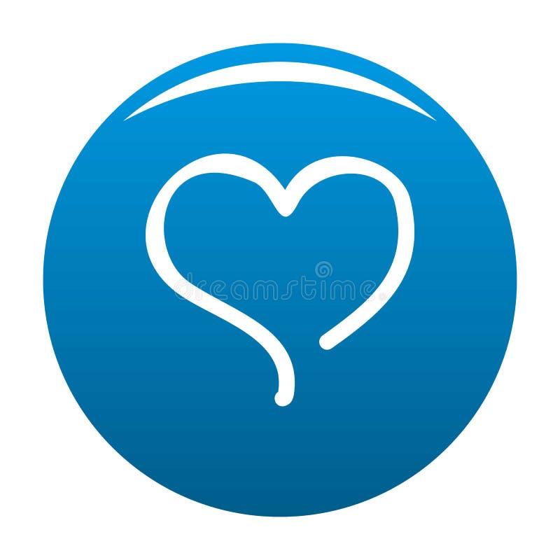 Nakreślenie ikony kierowy błękit ilustracji