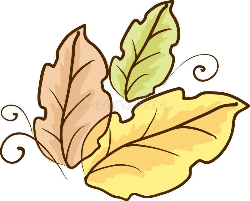 Download Nakreślenie kolorów liście ilustracja wektor. Ilustracja złożonej z kwiecisty - 28971649