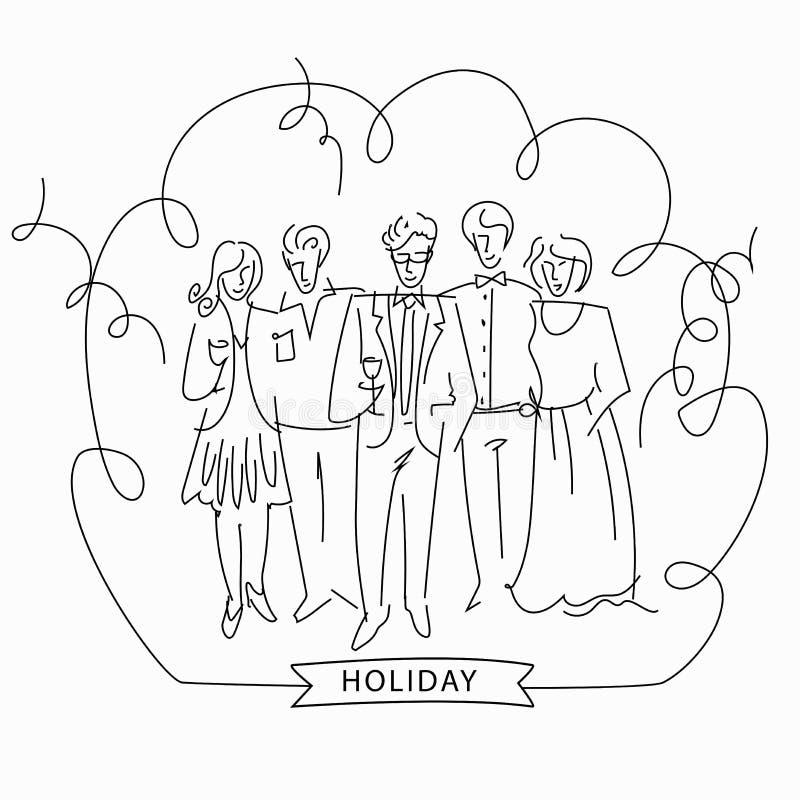 Nakreślenie korporacyjny przyjęcie royalty ilustracja