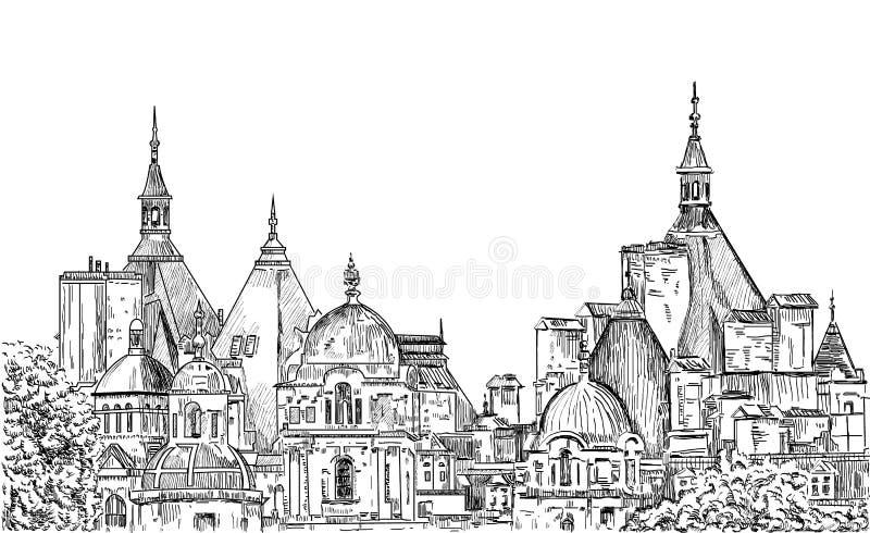 Nakreślenie Londyn ilustracja wektor