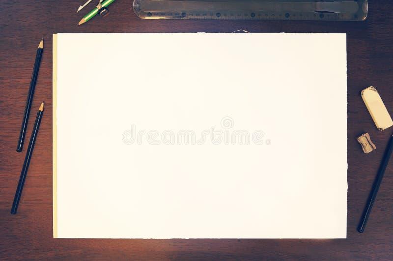 Nakreślenie ołówkowego rysunku mockup zdjęcie stock
