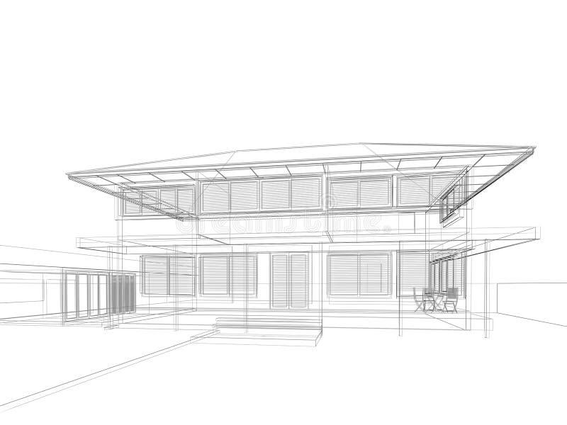 Nakreślenie projekt dom ilustracji
