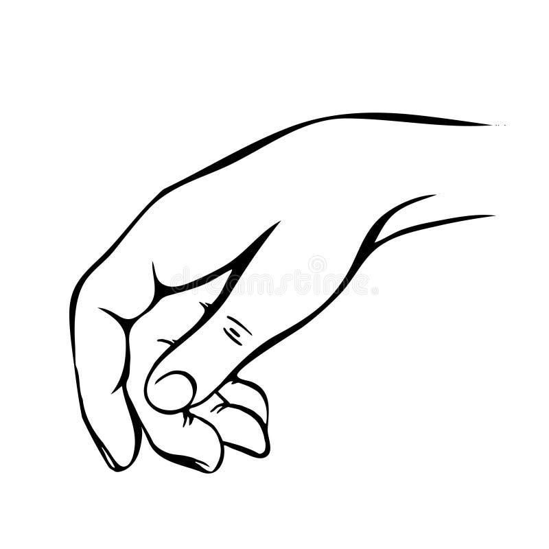 Nakreślenie ręka Ręka rysująca doodle ręka mężczyzna ilustracja wektor