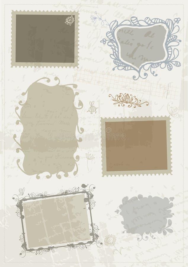 Nakreślenie ramy, dla twój projekta ręka rysunek royalty ilustracja