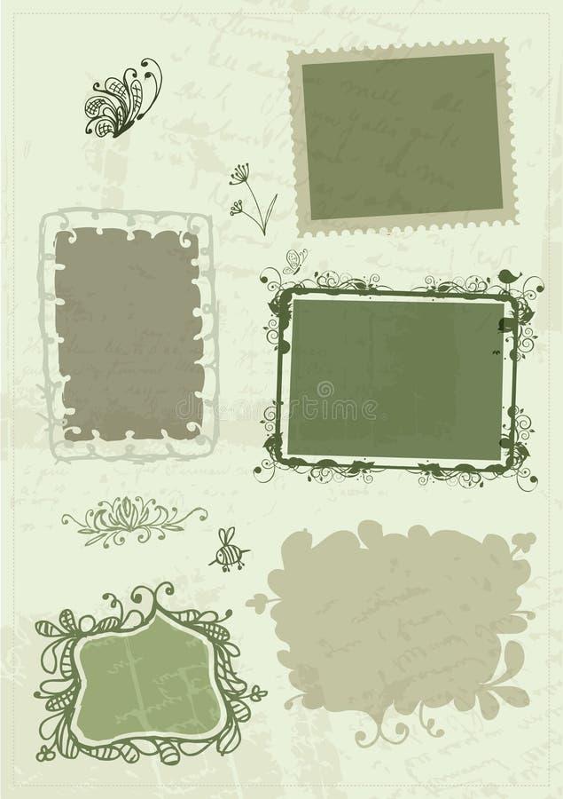 Nakreślenie ramy, dla twój projekta ręka rysunek ilustracja wektor
