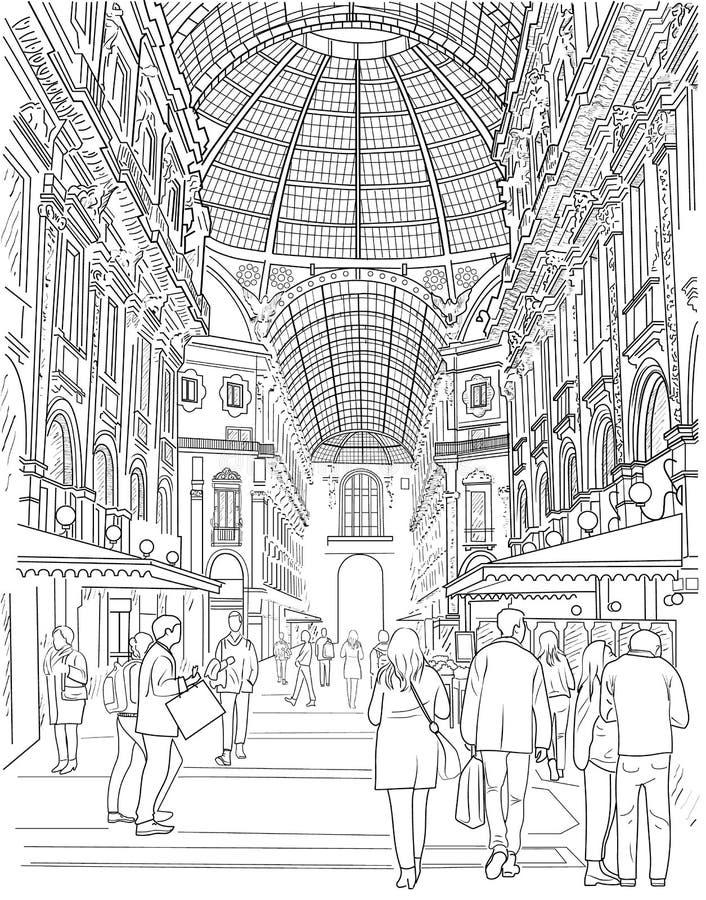 Nakreślenie zakupy galeria royalty ilustracja
