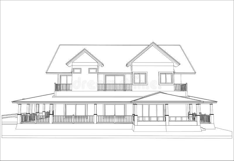 Download Nakreślenie Projekt Dom, Wektor Ilustracja Wektor - Ilustracja złożonej z city, wnętrze: 41952287