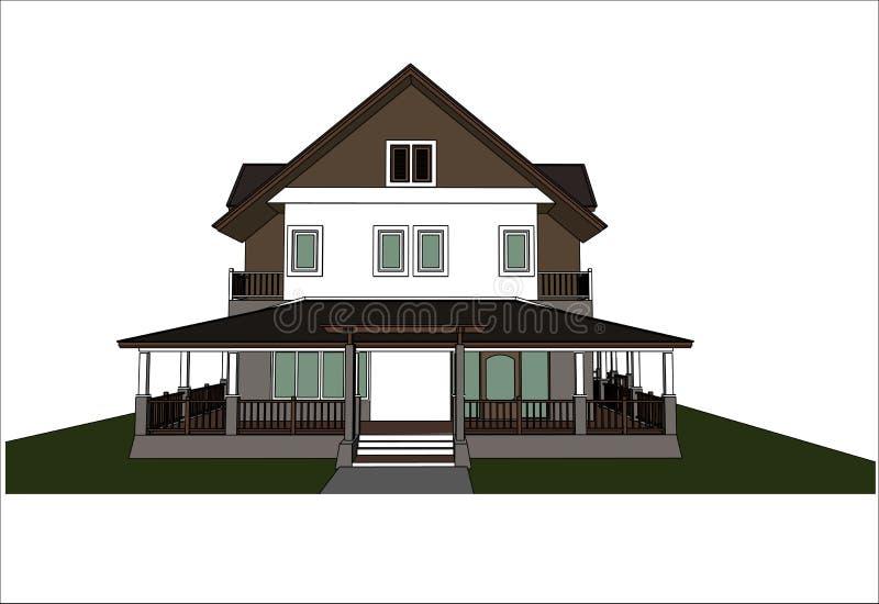 Download Nakreślenie Projekt Dom, Wektor Ilustracja Wektor - Ilustracja złożonej z rama, miasteczko: 41952339