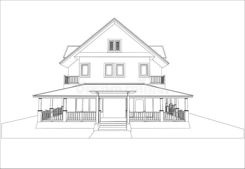 Download Nakreślenie Projekt Dom, Wektor Ilustracja Wektor - Ilustracja złożonej z powierzchowność, nowy: 41952380