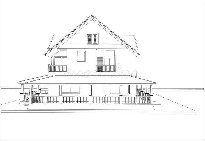 Download Nakreślenie Projekt Dom, Wektor Ilustracja Wektor - Ilustracja złożonej z struktura, nowożytny: 41952480