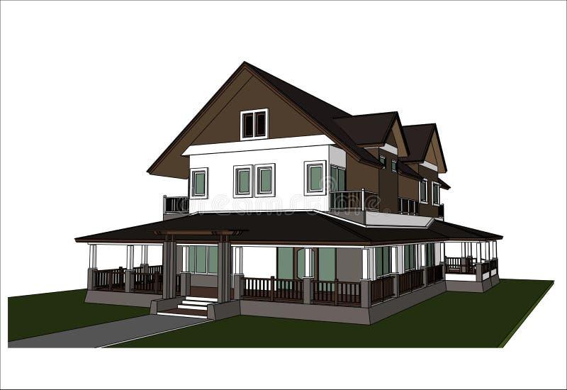 Download Nakreślenie Projekt Dom, Wektor Ilustracja Wektor - Ilustracja złożonej z wnętrze, nowożytny: 41952700