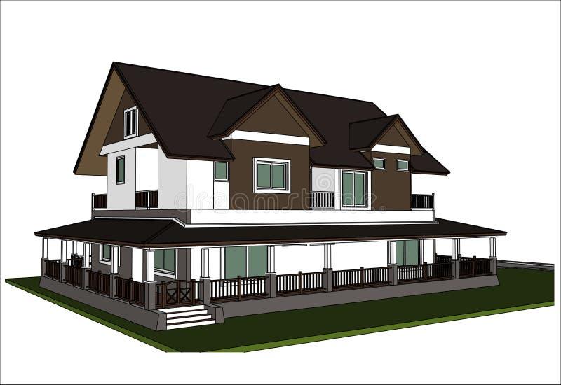 Download Nakreślenie Projekt Dom, Wektor Ilustracja Wektor - Ilustracja złożonej z city, druki: 41953054