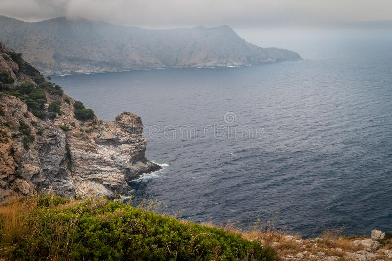Nakrywa De Creus, Naturalny park w Costa Brava catalonia zdjęcie stock