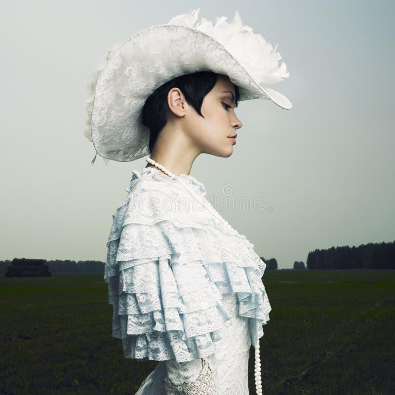 nakrywa rocznik kobiety zdjęcia royalty free
