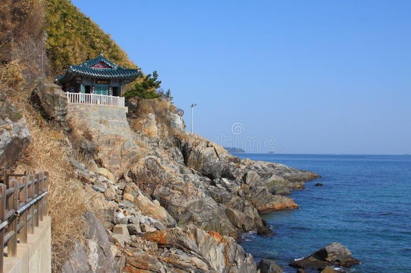 Naksansa (complexo coreano do templo budista) imagens de stock