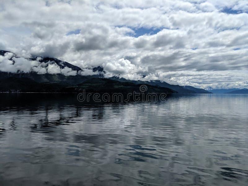 Nakusp. Travel, beautiful, nature, canada, lake, clouds, cloudy royalty free stock photo