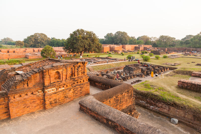 Nalanda, India, 27 November 2012. Many people to visit a place that is important Buddhist Nalanda University. As the world's first university to priests. The stock photography